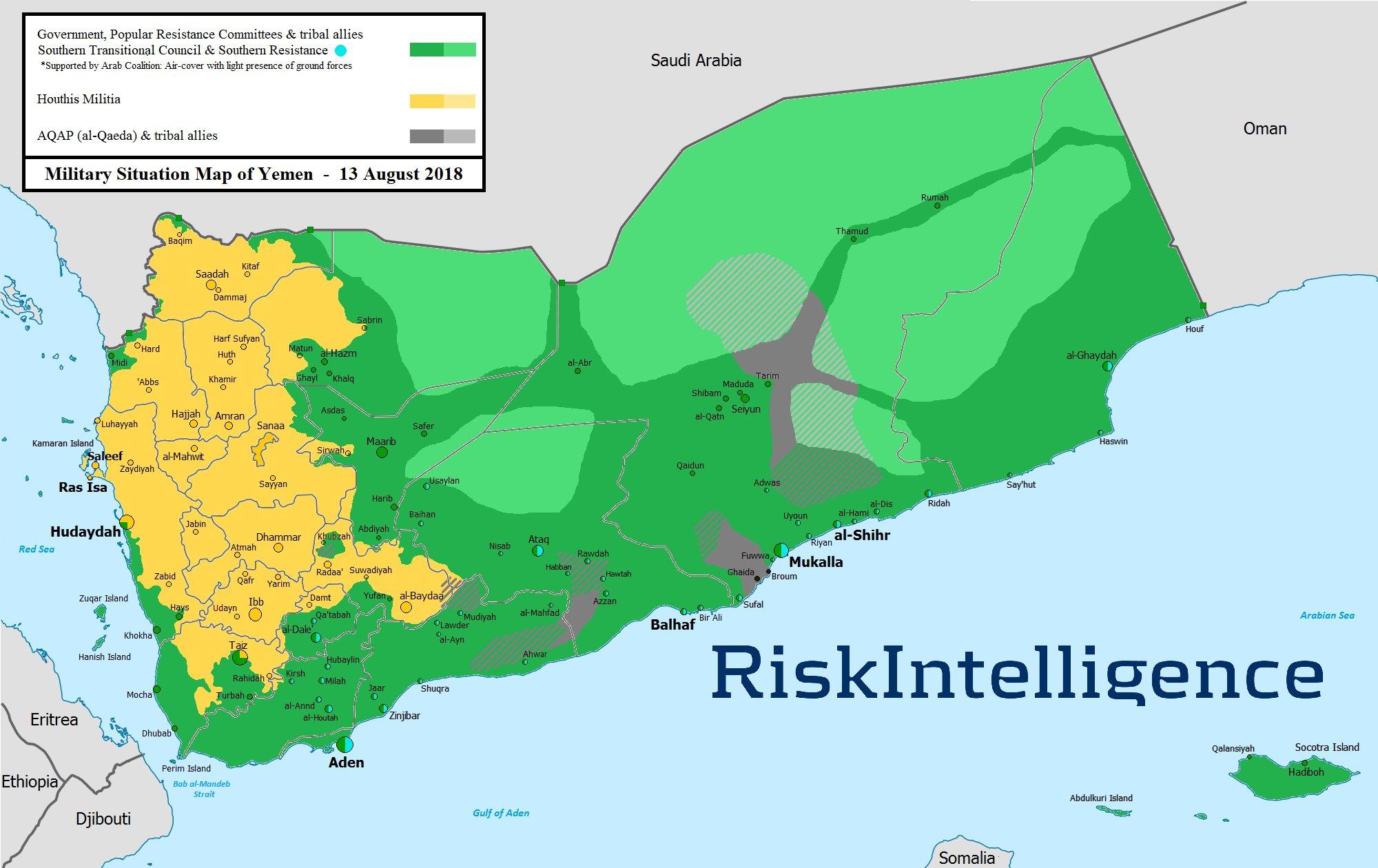 Aktuální vojenská situace v Jemenu