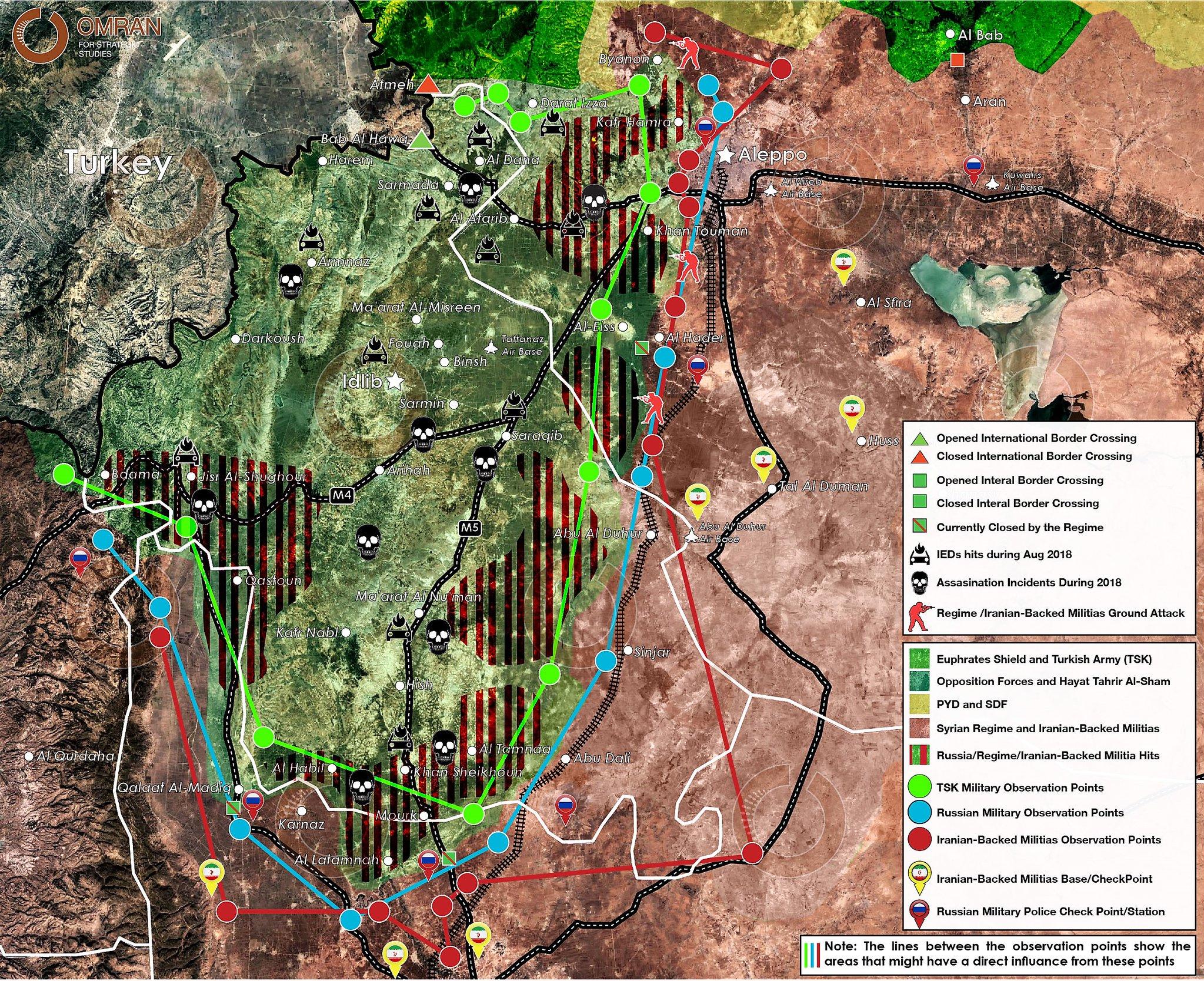 Vojenská situace v předvečer ofenzívy v syrské provincii Idlíb