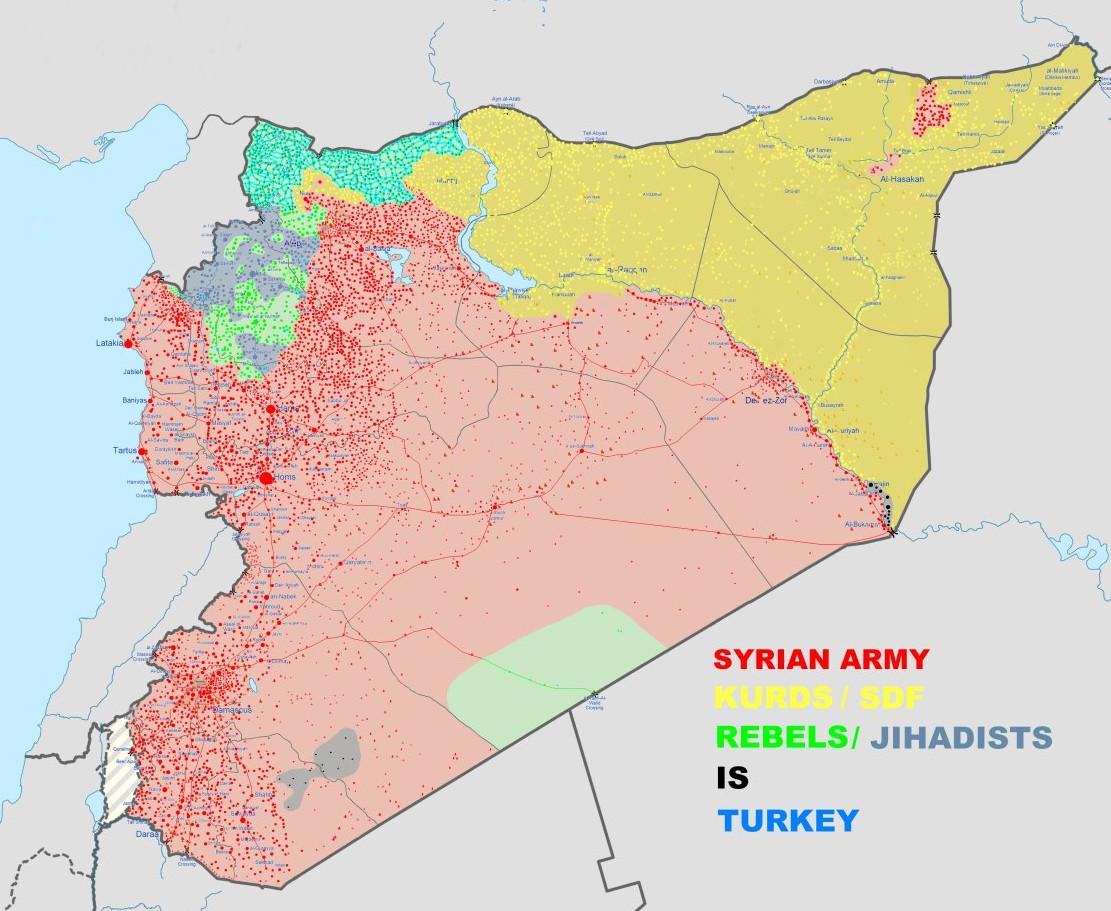 Nový vývoj střetů v severovýchodní Sýrii dle MoA