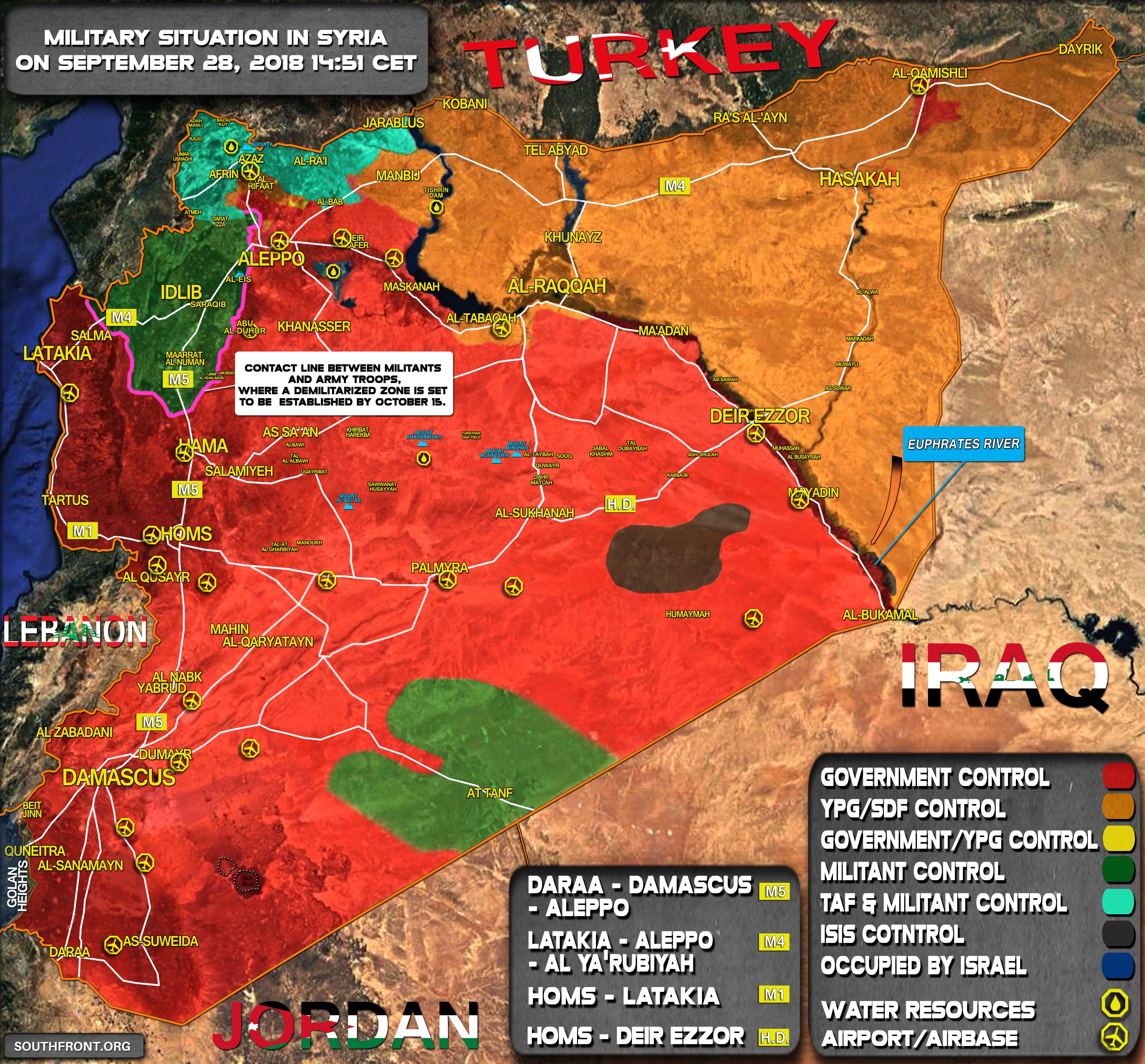 Aktuální vojenská situace v Sýrii