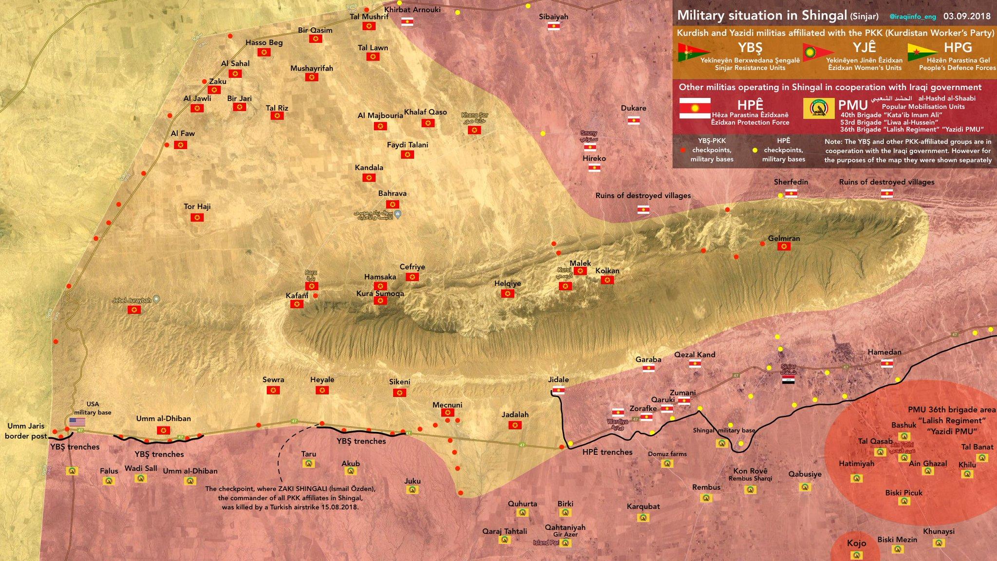 Vojenská situace v iráckém Sindžáru