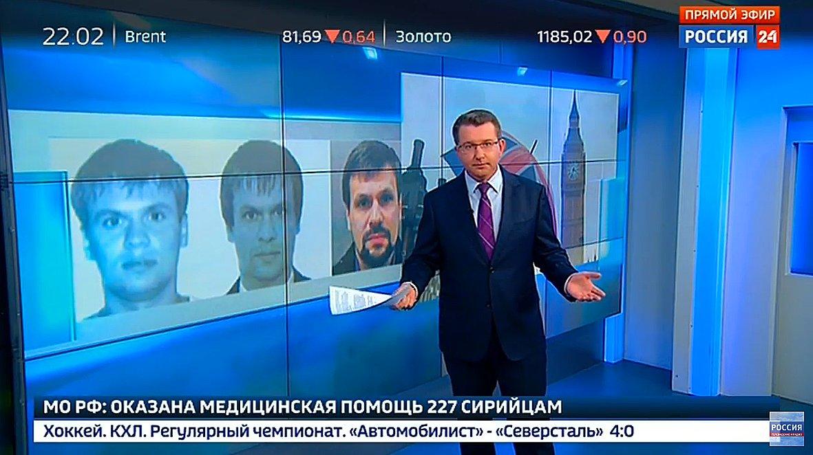 Ruská státní televize tvrdí, že informace Bellingcat o identifikaci důstojníků GRU je falešná.