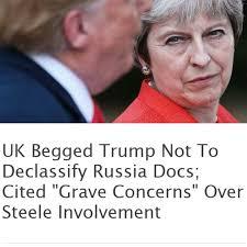 Velká Británie prosila Trumpa aby nezveřejňoval dokumenty o vyšetřování tzv. ruského ovlivňování voleb