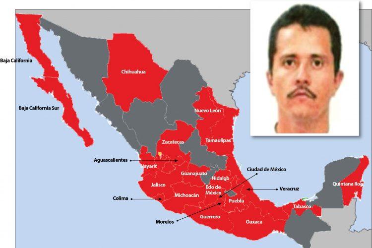 """Mexická drogová organizace """"Jalisco New Generation Cartel"""" se stala nejmocnější ozbrojenou skupinou v zemi"""