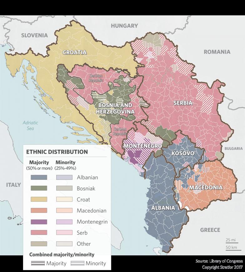 Projekt k vytvoření multietnické společnosti na Balkáně selhal a může vést ke konfliktu