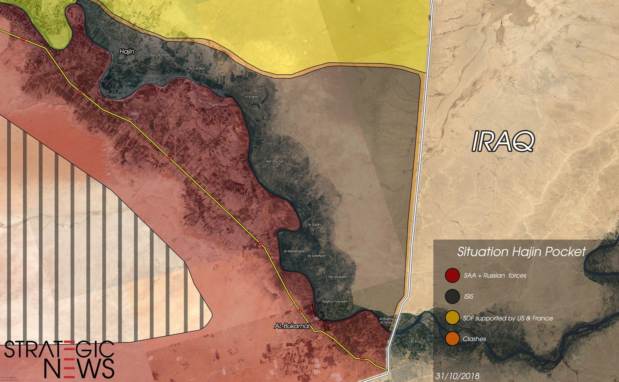 Jednotky SDF ustupují – situace v tzv. kapse Hajin