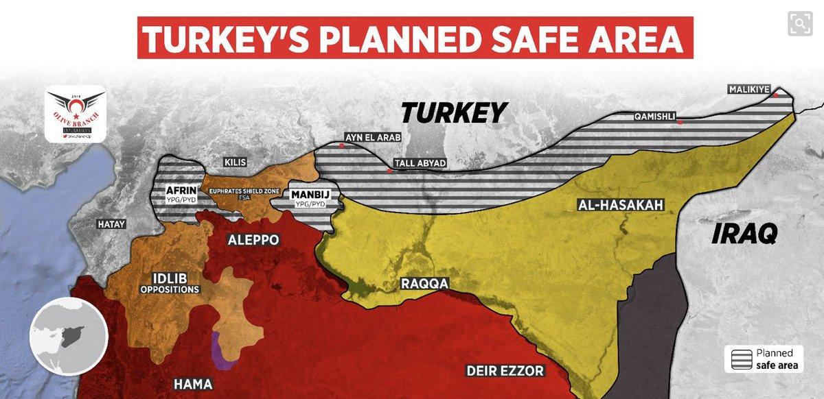 Rozsah turecké okupace Sýrie