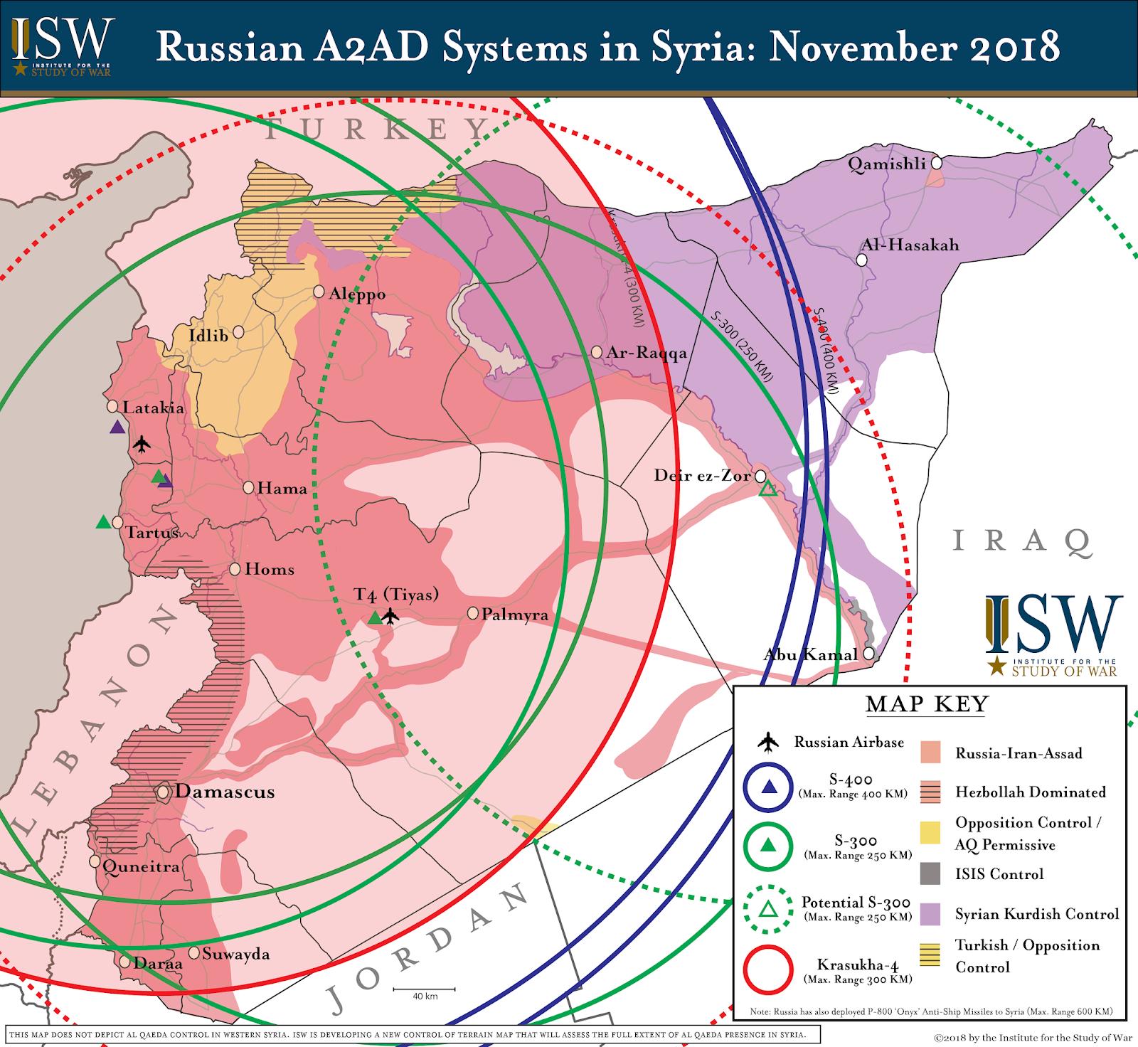 Mapa – Rusko rozšiřuje systémy PVO v Sýrii