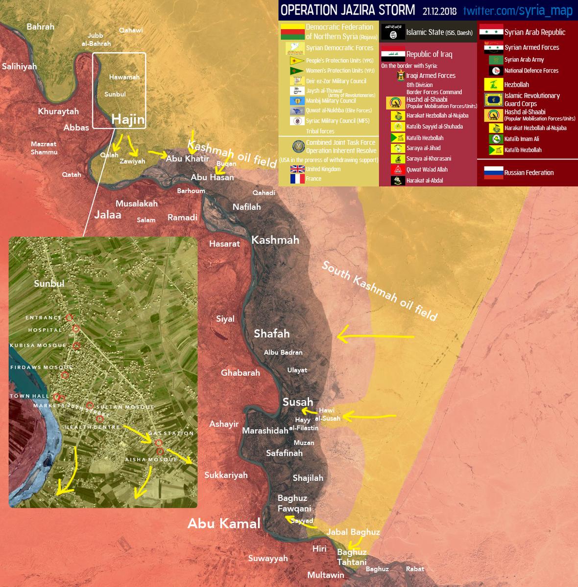 Aktuální vojenská situace na jihovýchodě Sýrie