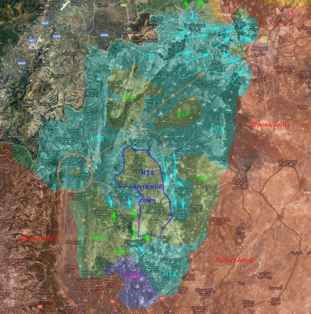 Aktuální vojenská situace v syrské provincii Idlíb