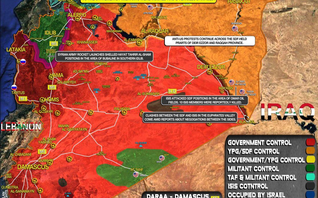 Celková vojenská situace v Sýrii k 10.2
