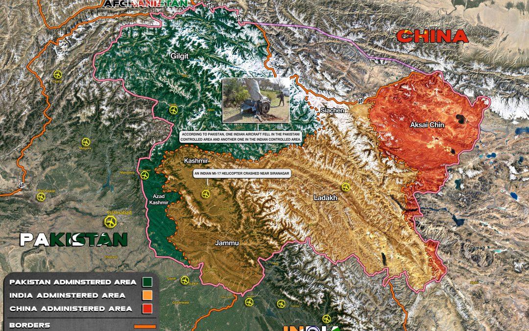 Mapa konfliktu v Kašmíru