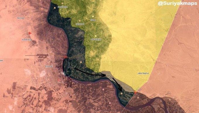 Vojenská situace v jihovýchodní Sýrii