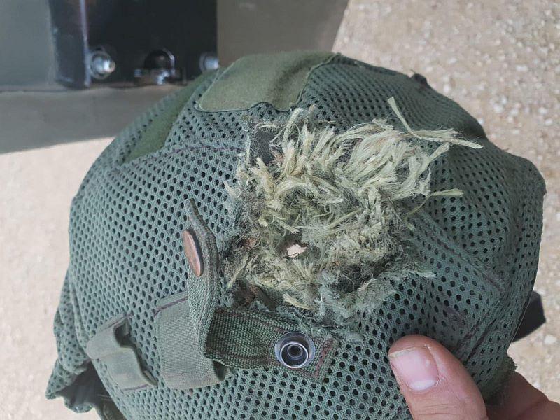 Helma zachránila život vojákovi IDF