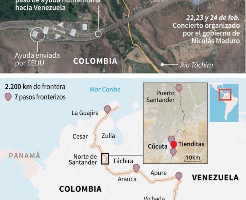 Souboj koncertů na hranicích Venezuely a Kolumbie