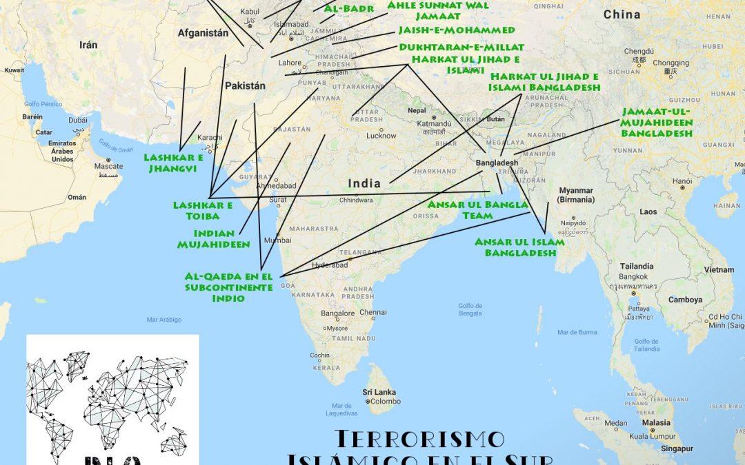 Mapa islámského terorismu v jižní Asii