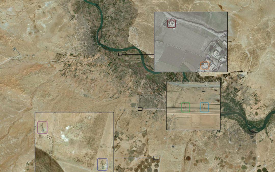Lokalizace posledního táboru IS v Sýrii