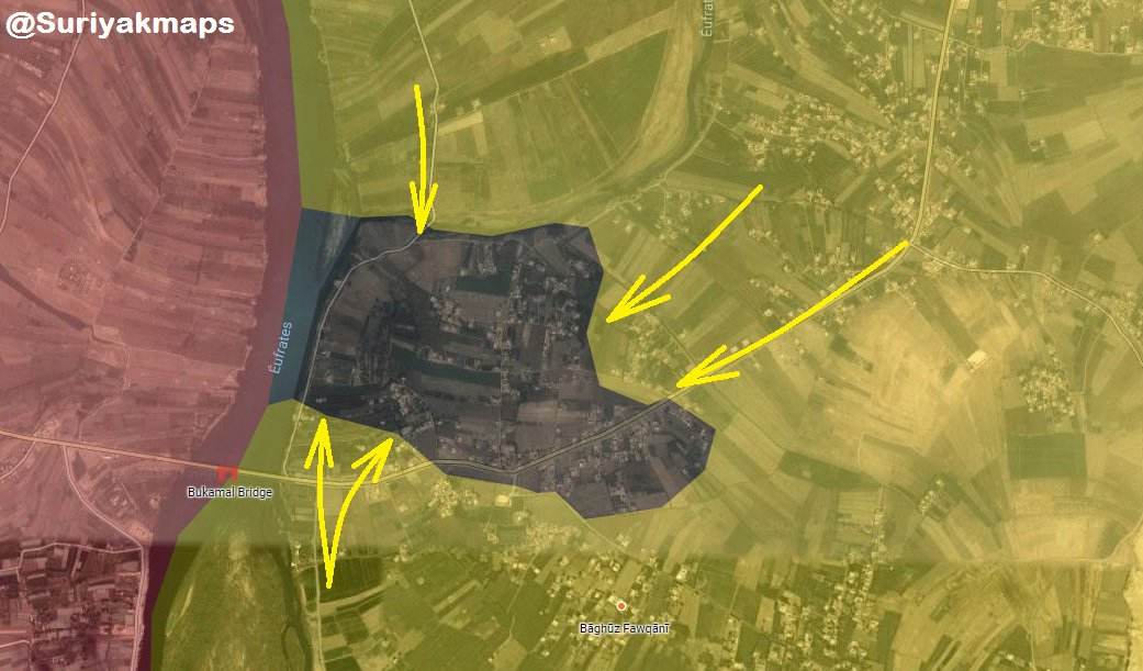 Postup SDF a situace v jihovýchodní Sýrii