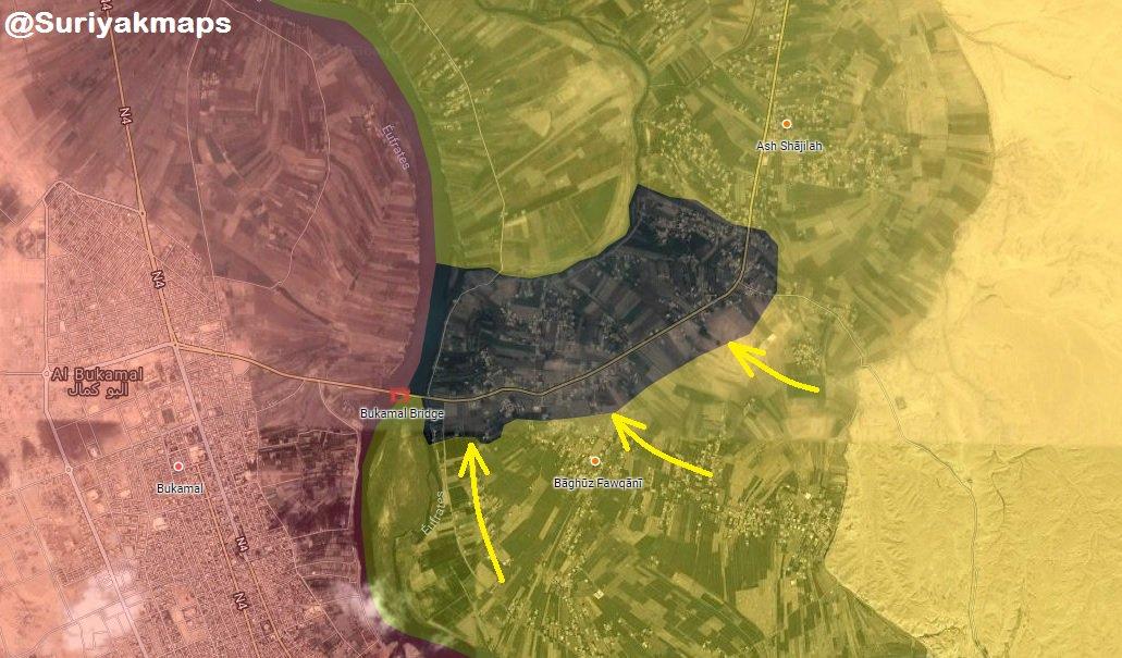 Aktuální vojenská situace v jihovýchodní Sýrii