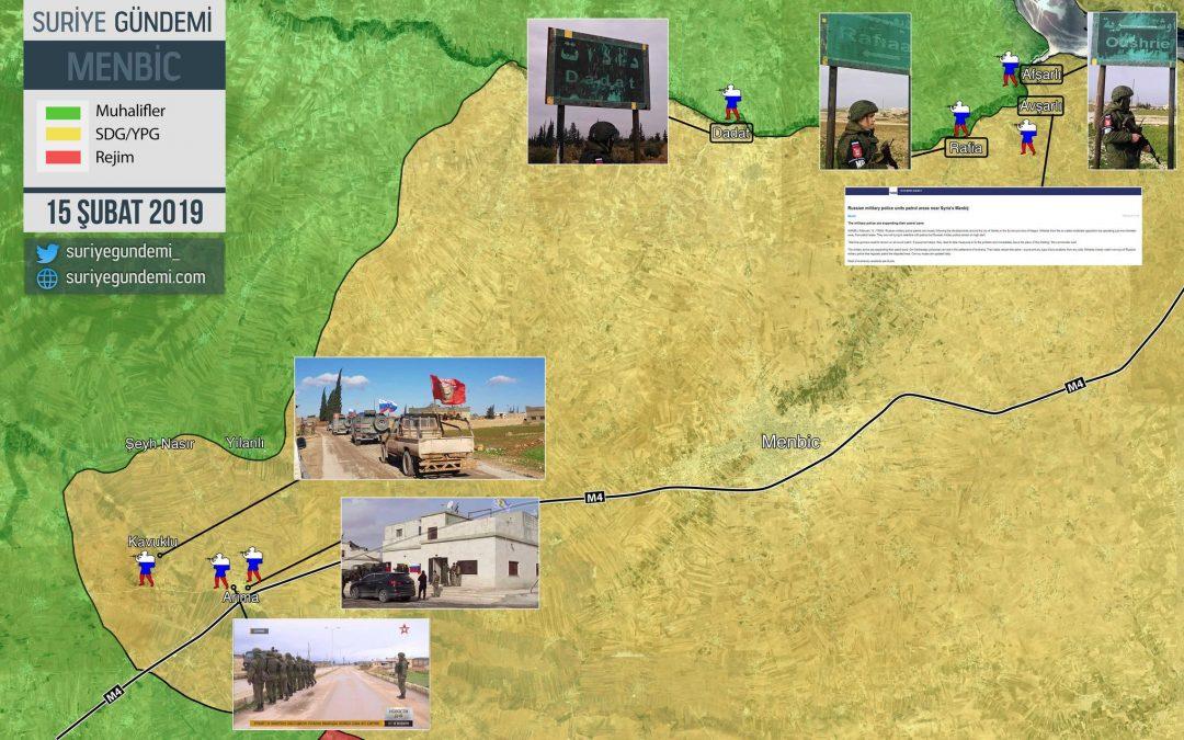 """Ruské jednotky poprvé hlídkují v """"turecké zóně"""" Manbij"""