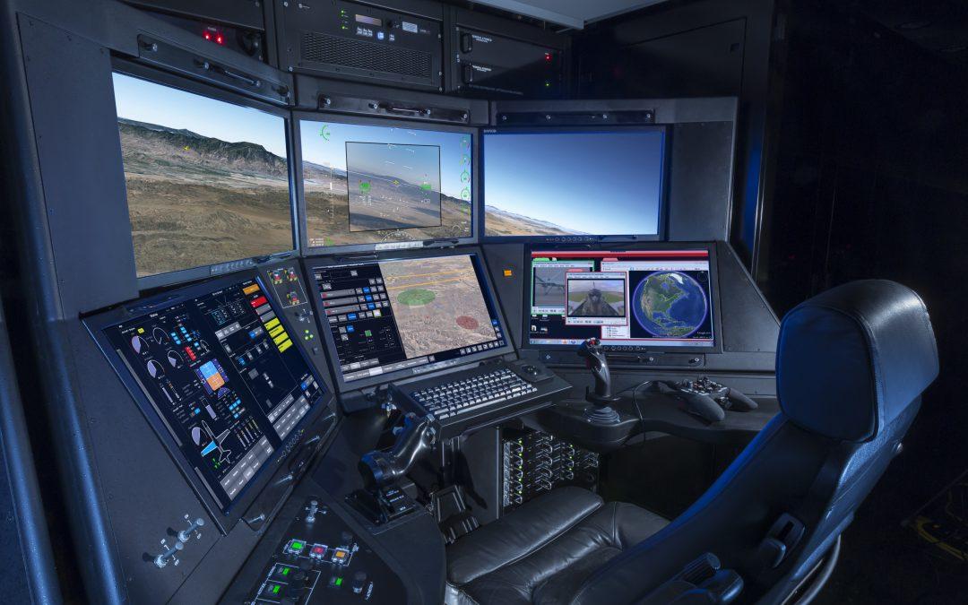Řídící pracoviště nového UAV MQ-9 Reaper
