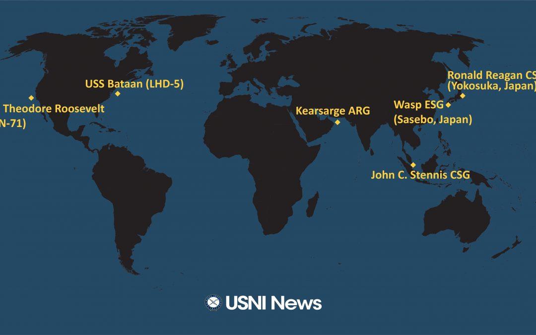 Nasazení a rozmístění amerického námořnictva