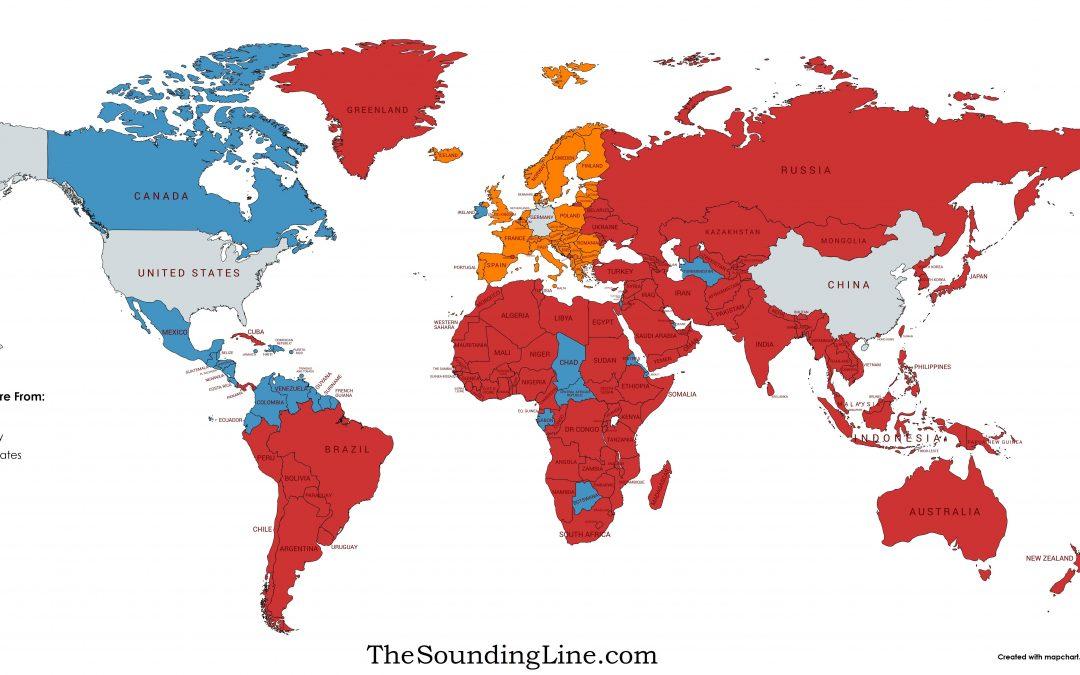 Které země importují více z USA, Číny nebo Německa?