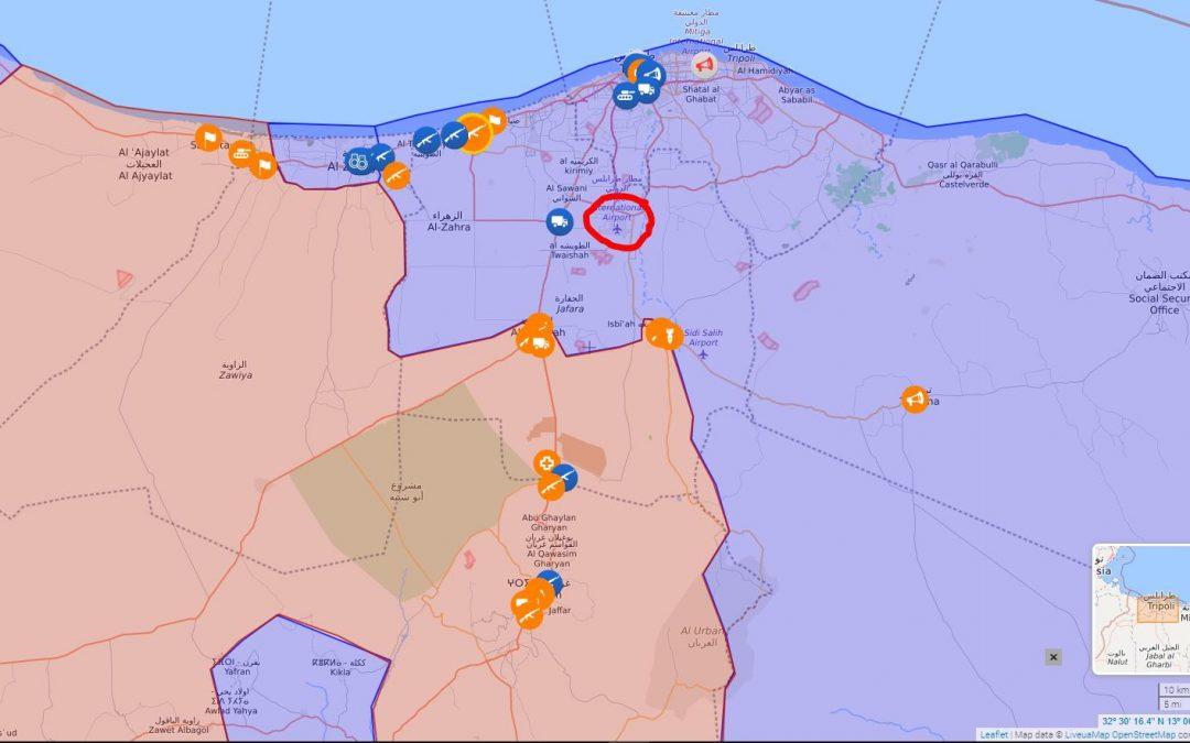 Jednotky LNA polního maršála Haftara právě bojují o mezinárodní letiště Tripolis