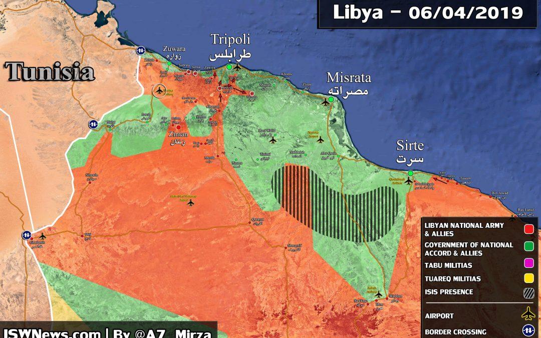 Vojenská situace v okolí Tripolis