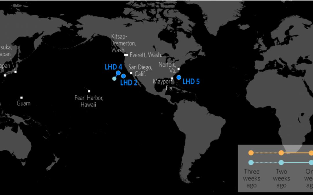 Rozmístění klíčových námořních sil