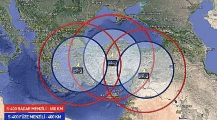 Turecký systém S-400 bude kontrolovat významnou část středomoří