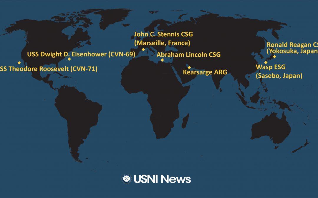 Dva útočné svazy letadlových lodí USA ve středomoří