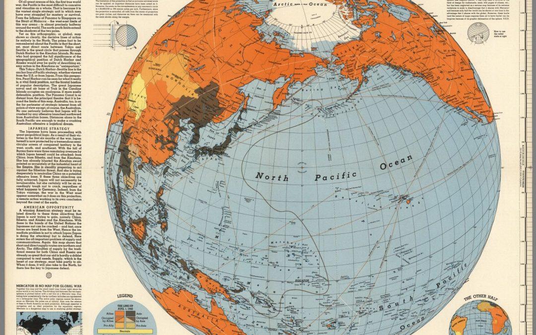 Pacifické bojiště v době největšího rozmachu Japonska