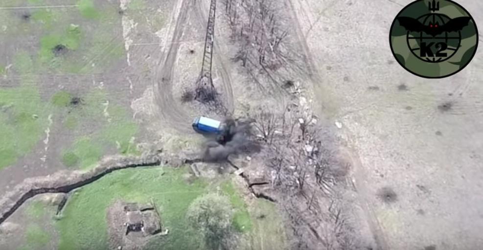 Používání drónů v bojích o Doněck