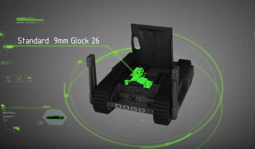 Jsem DOGO – taktický robot vyzbrojený pistolí Glock