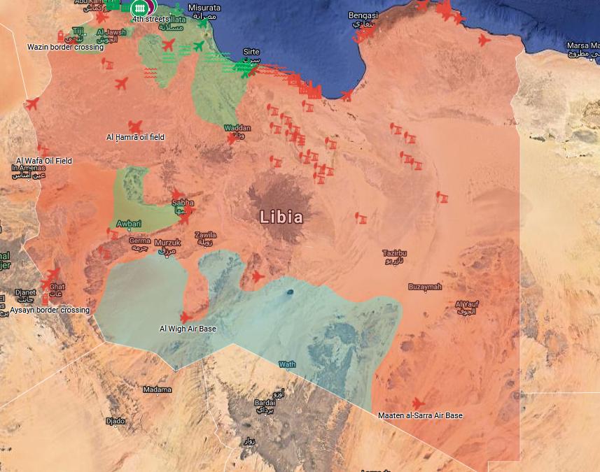 Aktuální vojenská situace v Libyi