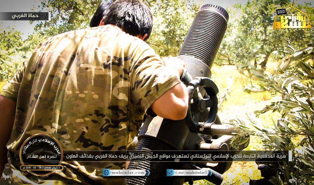 Ujgurští džihádisté používají proti SAA minomety standardu NATO