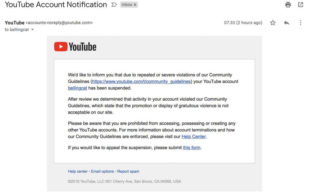 Útok sociálních sítí proti svobodě pokračuje: Bellingcat zablokován