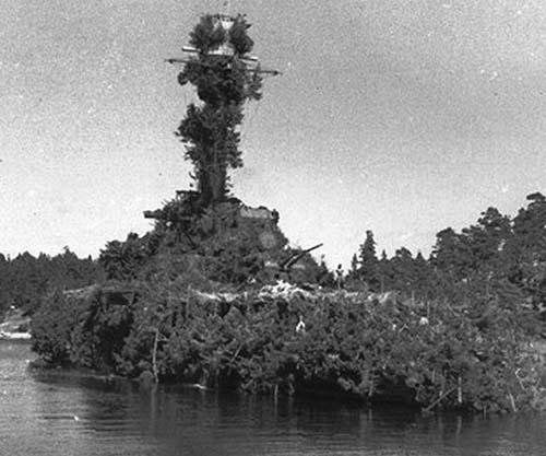 Loď unikla maskovaná jako ostrov