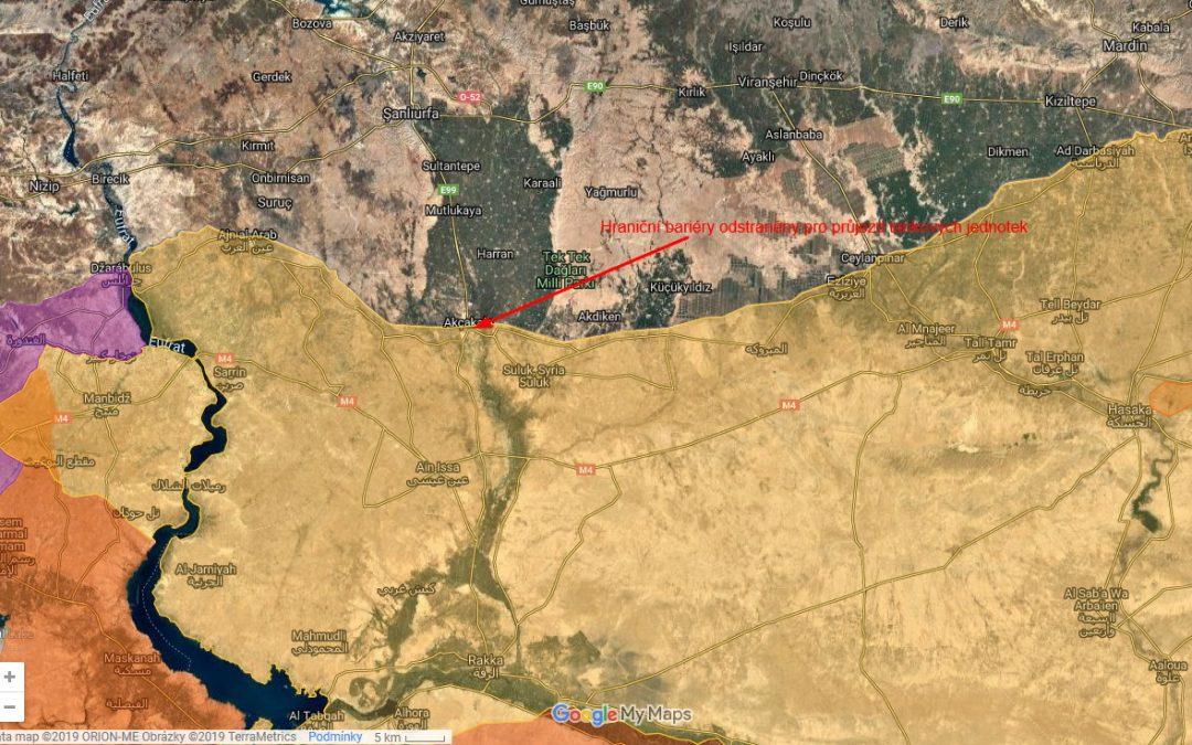 Turecko začalo odstraňovat hraniční bariéru s kurdskými oblastmi Sýrie