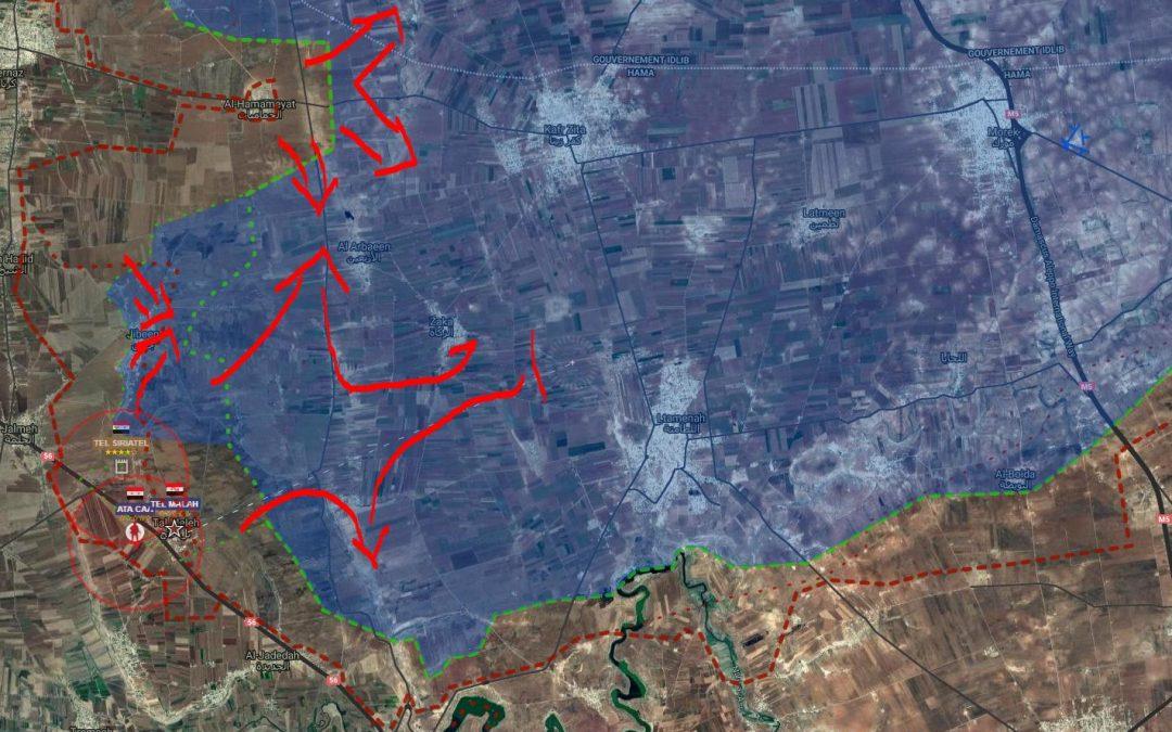 Ofenzíva SAA na jihu provincie Idlíb