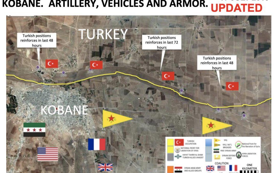 Rozmísťování tureckých sil u Kobane