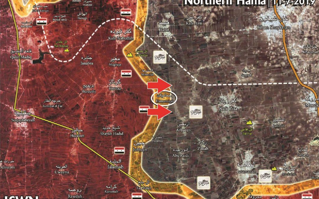 SAA dobyla zpět ztracená území v syrské provincii Hama