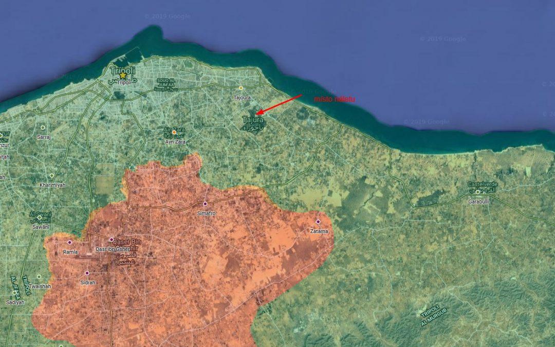 Geolokace útoku v Libyi