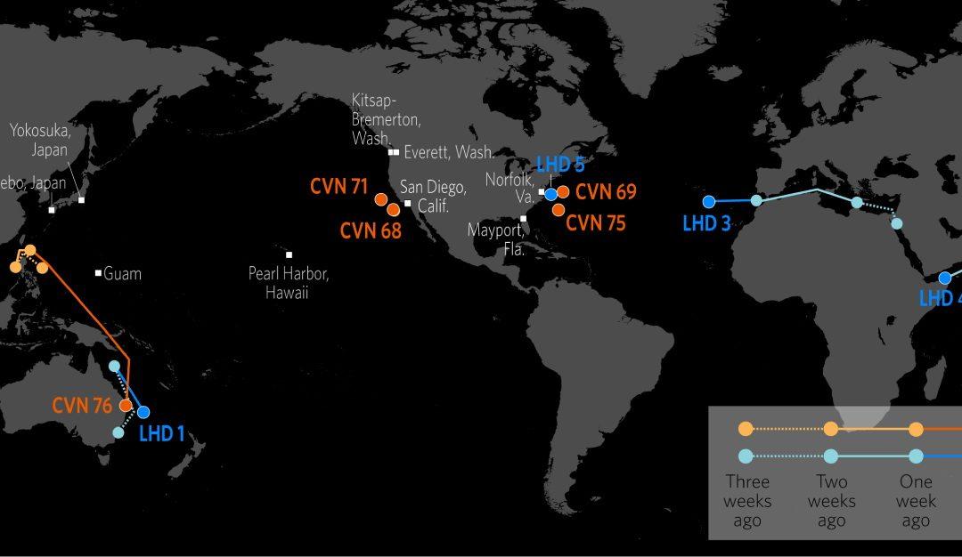 Lokalizace amerických námořních sil