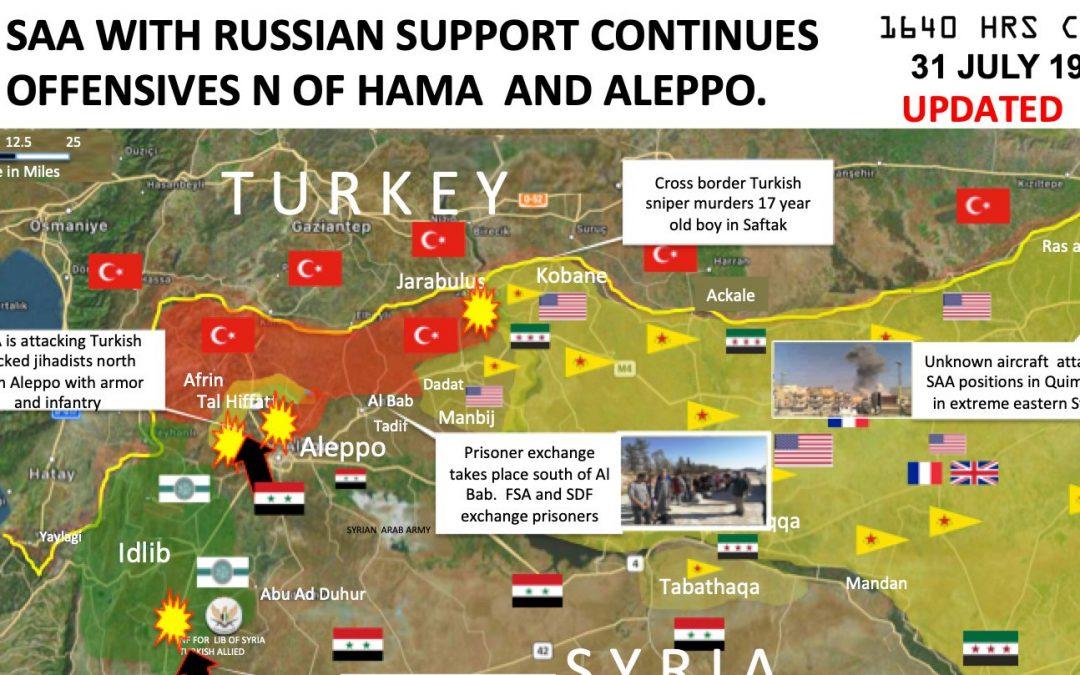 Vojenská situace v severní Sýrii