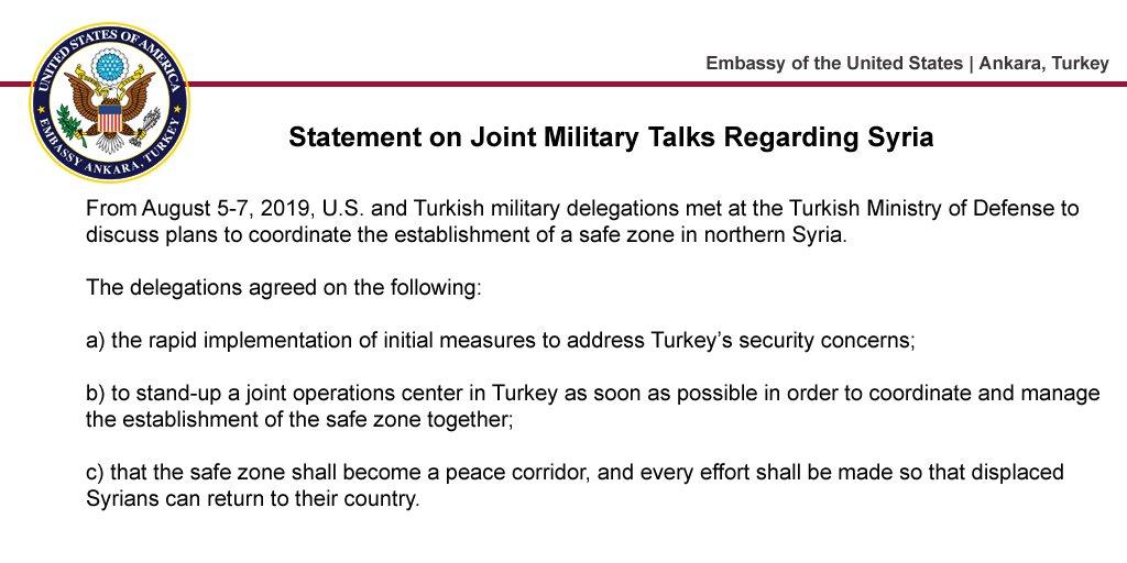 Zřízena US-Turecká komise k implementaci bezkurdské zóny v Sýrii