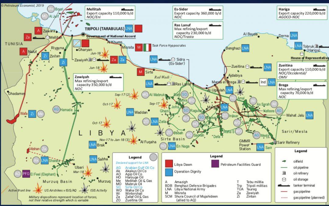Ropná strategická situace v Libyi