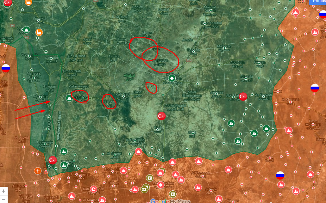 Masivní letecké útoky v provincii Idlíb