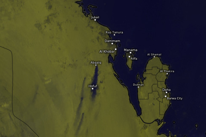 Satelitní záběry útoku na SA rafinérii